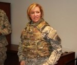 Army Surgeon General Dons New Female Body Armor
