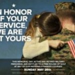 Complimentary Round of Golf for All Active and Retired Military Personnel