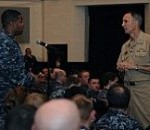 CNP Talks Tuition Assistance, PTS and More with Sailors in Norfolk