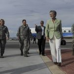 SecAF Visits Nellis AFB Airmen, Experiences Red Flag Exercise