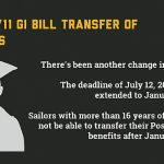 Post-9/11 GI Bill Education Benefits Transfer Deadline Extended for Members with 16 Years of Service