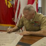 Military Saves Month Proclamation Signing