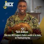 Overseas NEX Supports Sailors on Thanksgiving Day