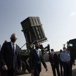 Esper Sees Iron Dome Missile Defense System in Tel Aviv