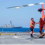 Navy and Coast Guard Operate Together In Aegean Sea