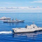 U.S. Navy, German Navy Sail at Sea Together