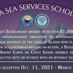 Navy Announces Eligibility For The Alaska Sea Services Scholarship